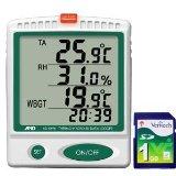 A&D 温度・湿度データーロガー 温湿度SDデータレコーダー AD-5696